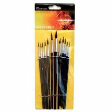 Blackspur 12pc Artists Paint Brush Set ideal For Beginners or Expert  New Packed