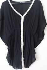 REFUGE CLOTHING Sz Large Black Top Blouse