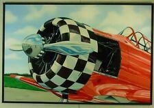 Günther J. Herrmann Cessna  Flugzeug Fotorealismus Ölgemälde 2003 signiert