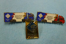 "3 x SOBO ""2 Prime Mover Trucks and Composite"" Pins Sydney 2000 Olympic Games"