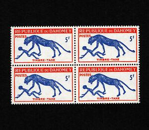 OPC 1963 Dahomey 5f Postage Due Block Sc#J31 MNH