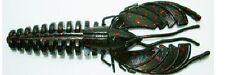 "4653 Venom Lures, 6 1/4"" Nightmare Craw, Black Red Glitter, 25 pack"
