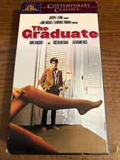 The Graduate Vcr Vhs Tape Movie Anne Bancroft, Dustin Hoffman Rated G Used