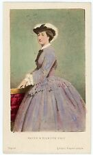 Photo VINTAGE 1870 Hand tinted EMPRESS IMPERATRICE Eugénie Mayer & Pierson CDV
