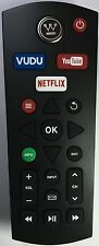 New WESTINGHOUSE REMOTE CONTROL WITH VUDU YOUTUBE NETFLIX BUTTONS for Smart Box