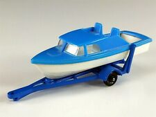 Matchbox No. 9 Cruiser Boat and Trailer Diecast Code 1
