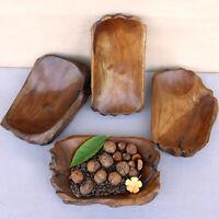 20-24cm echte Teakschale Dekoschale Holzschale Teak Schale massiv Holz DE