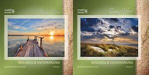 "2 CDs ""Wellness & Entspannung"" (Vol. 1 & 2), Gemafreie Entspannungsmusik - Neu"