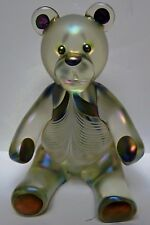 Stuart-Abelman-Signed-And-Numbered-Iridized-Cranberry-Pulled-Feather-Bear-1983