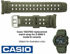 Genuine CASIO G-9000 G-9000-3 G 9000 G9000 Mudman  Dark Green Watch Strap Band