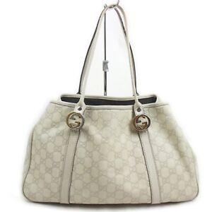 Gucci Tote Bag  Whites Leather 1133368