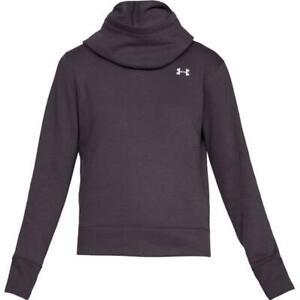 NWT Under Armour Women's Purple Fleece Hoodie Medium toc13