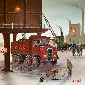 MAL.BURTON ORIGINAL OIL PAINTING. ANOTHER LOAD NORTHERN ART DIRECT FROM ARTIST