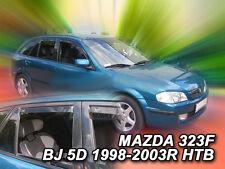 DMA23158 MAZDA 323 BJ 5 DOOR 1998-2003  WIND DEFLECTORS 4pc HEKO TINTED