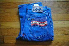 1980's Men's Lee Pre- Wash Jeans Size 28 x 36, Made in USA, Deadstock