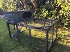 Rabbit Hutch Cage 2 Floors Removable Drawer Wooden Guinea Pig House Pen