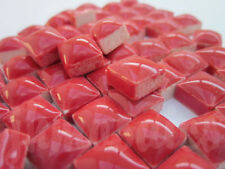 "100pcs Mini Mosaic Tiles RED 3/8"" stock in US"