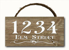 Wooden Custom Made Decorative Outdoor Signs Plaques For Sale Ebay