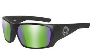 Harley-Davidson Mens Wiley X Keys Smoke Grey Lens Black Frame Sunglasses HAKYS10