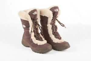 THE NORTH FACE Winter Boots Womens 7 in Chocolate Brown NUPTSE Goose Down