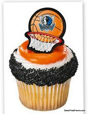Mavericks Dallas Basketball Cake Decoration Hoop Sports Game Party Cupcake x24