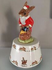 Vintage Royal Doulton China  Bunnykins  Christmas Music Box Santa Claus Bunny