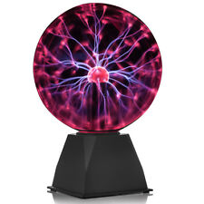 "Xmas Gift 8"" PLASMA GLOBE BALL LIGHT GLOWING TABLE LAMP SOUND TOUCH ACTIVATED"