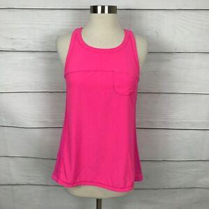 Lululemon Run Silver Lining Tank Pinkelicious Top Size 4 Pink Stripe Run Workout