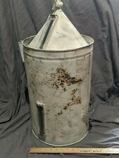 Large White Tank Topper Gas Fuel Farm Early Engine Train Antique Glass Meter