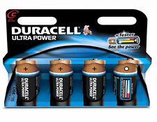 4 X Duracell 'C' Ultra Power Alkaline MX1400 1.5v LR14 C size batteries - 4 pack