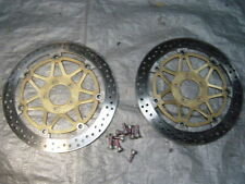 00 01 Kawasaki ZX12R 1200 ZX12 Front Rotors and Bolts Brakes