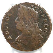 1787 33.2-Z.22 R-6- PCGS VF 25 Draped Bust Left Connecticut Colonial Copper Coin