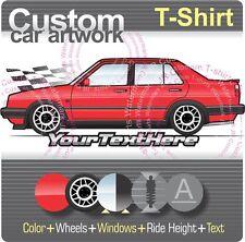 Custom T-shirt for 1988 88 89 1989 VW Jetta MK2 MkII GLi GTX 2.0 16v Sedan Fans