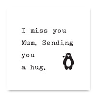 I Miss You Mum Sending You A Hug Card, Isolation Card For Mum, Miss You Card