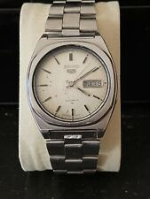 1978 Vintage SEIKO 5 automatic watch running Stainless steel Original Bracelet