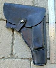 Original Ww2 Polish German Radom Vis P-35 9mm Black Leather Pistol Holster