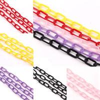 5 Strands Plastic Elliptical Ring Chain Jewelry DIY Making Craft Gift 13x6x1mm