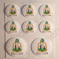 Pegatinas San Vicente y las Granadinas Escudo de Armas Vinilo 3D Relieve Coche
