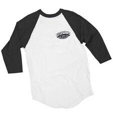 Elephant Brand Mike Vallely Elephant Logo 3/4 Raglan Shirt Blk/Wht Xl