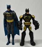 "Lot 2 DC Batman Figures: Lights & Talking 10"" Mattel Figure, 12"" Batman w/ Cape"