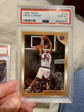 1998 Topps Basketball Vince Carter ROOKIE RC #199 PSA 10 GEM MINT