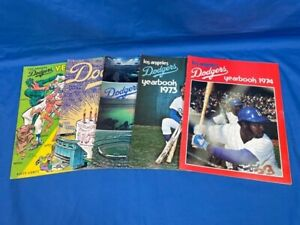 Los Angeles Dodgers 1970, 1971, 1972, 1973, 1974 Yearbooks.  LOT of 5 Yearbooks