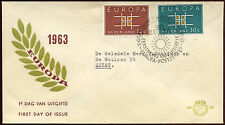 Netherlands 1963 Europa FDC First Day Cover #C27137