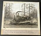 Vintage+1939+Early+Bulldozer+with+Pump+Tractor+in+Forest+Mounted+Photo+BB