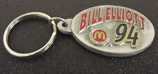 Collectible Solid Pewter Enameled Keychain Nascar Bill Elliot #94 Mcdonalds