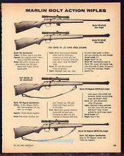 1974 Marlin 700 Series 780, 781, 783, 782 Bolt Action Rifle Ad Gun Advertising