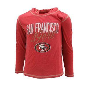 San Francisco 49ers NFL Kids Youth Girls Size Hooded Light Sweatshirt New Tags