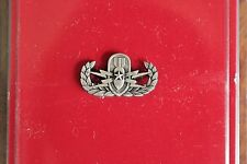 US ARMY MESS DRESS MINI SENIOR EXP ORD DISP ANTIQUE SILVER QUALIFICATION BADGE