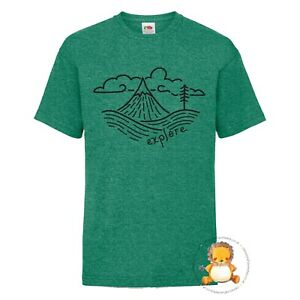 Kids Explore T-shirt - gift, camping, outdoor, present, trend, personalised