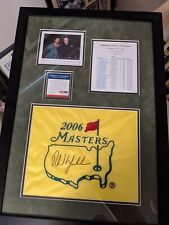 Phil Mickelson Signed And Custom Framed  Masters Flag COA Autographed PGA PSA